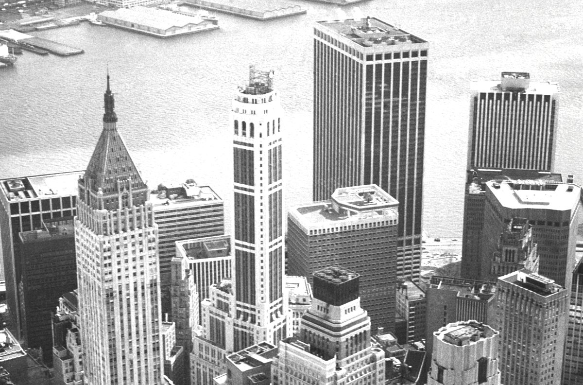 Skyscrapers seen from above
