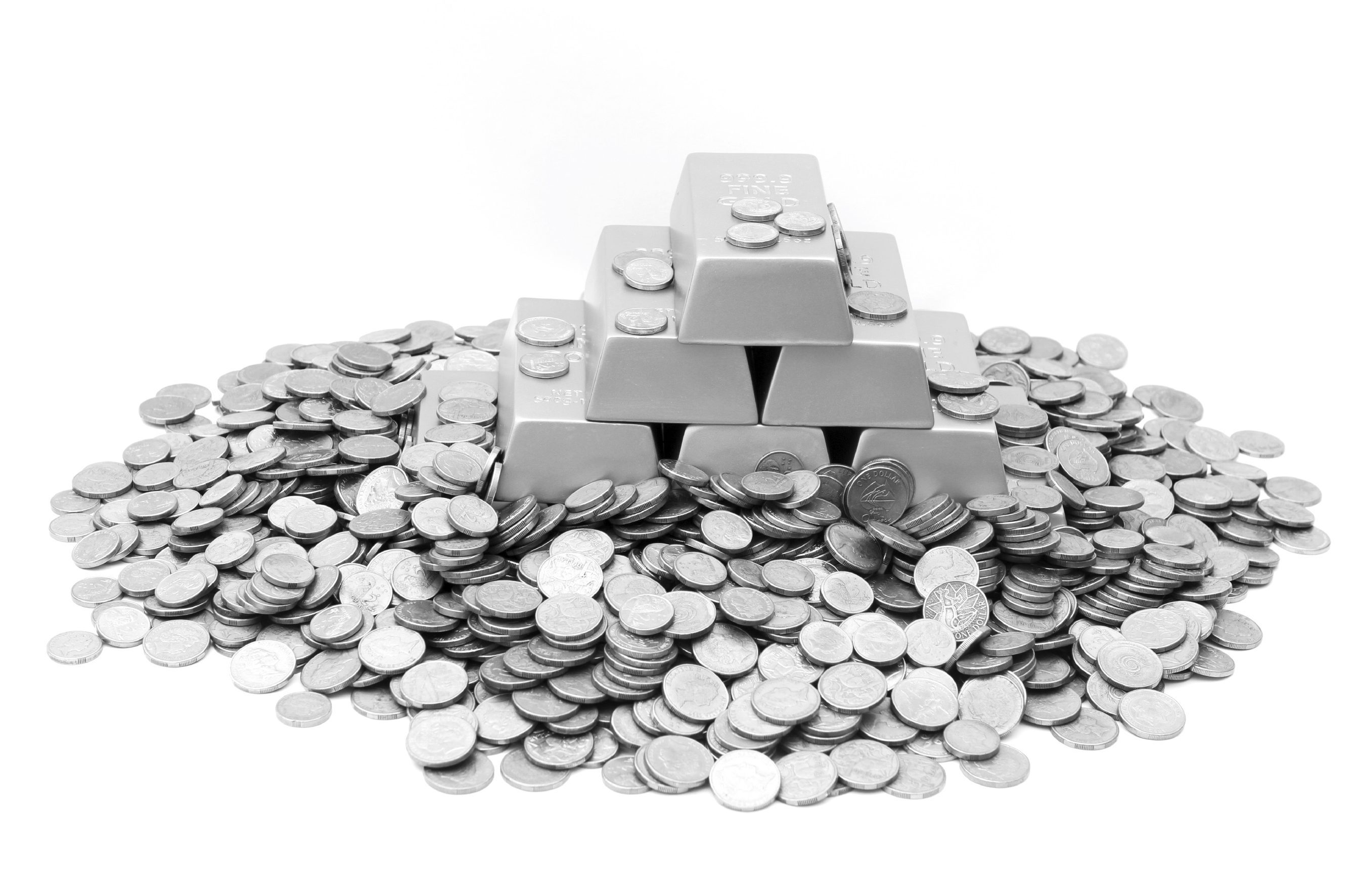A pile of gold coins and bars