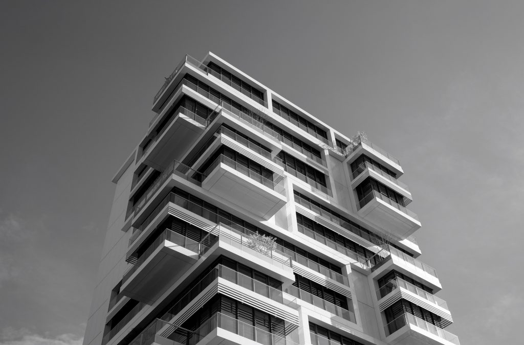 High rise building with balconies