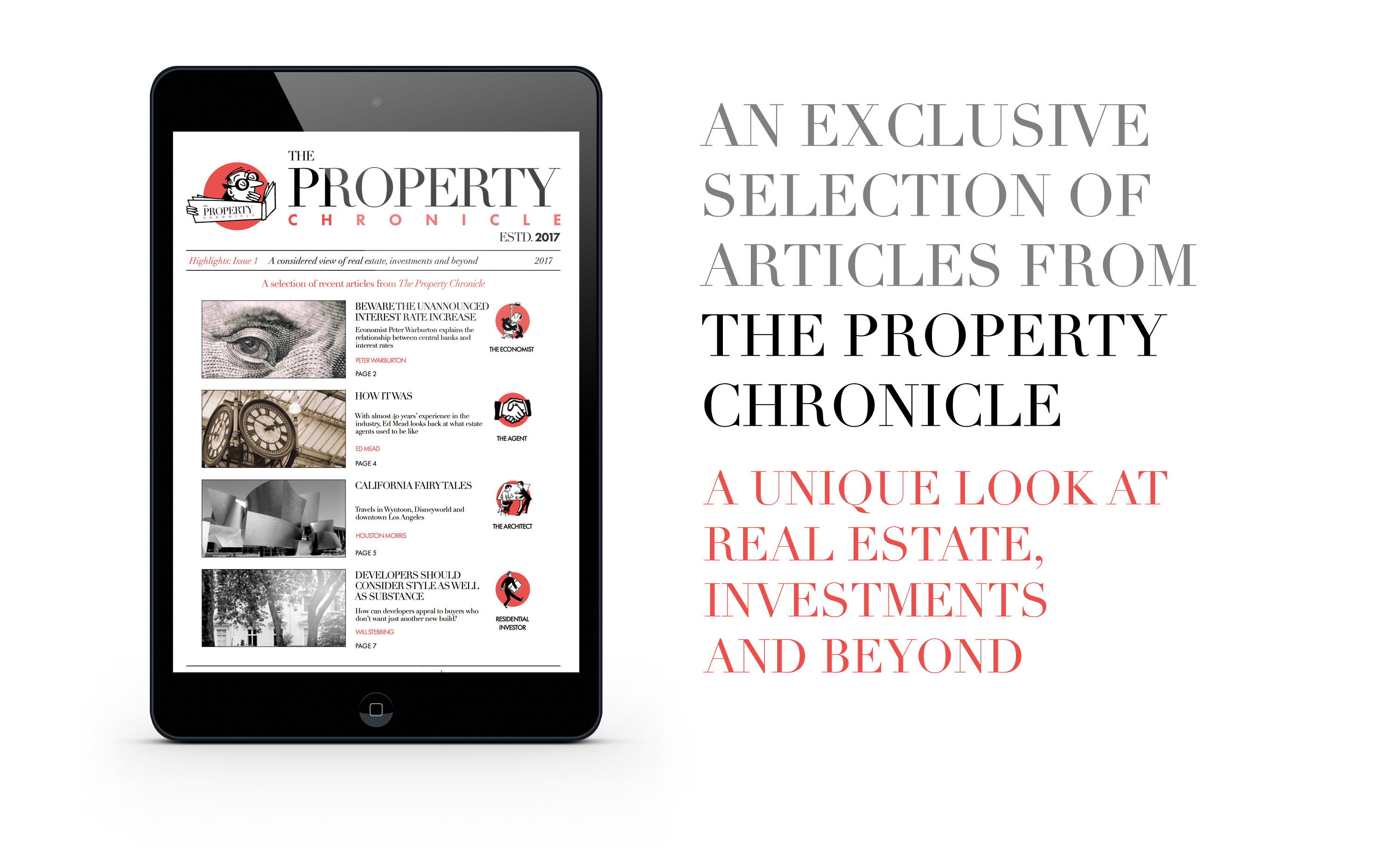 Property Chronicle on tablet