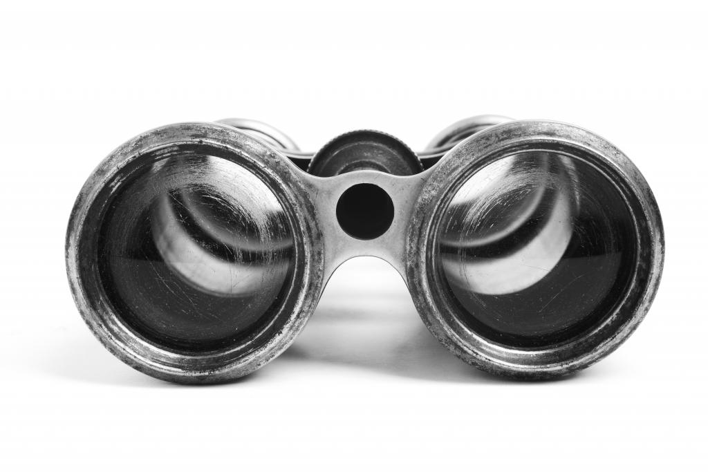 Old fashioned binoculars